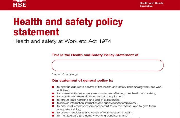 Health & Safety Statements